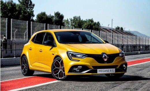 'Renault Megane RS' tagad arī 300 ZS jaudīgajā 'Trophy' versijā