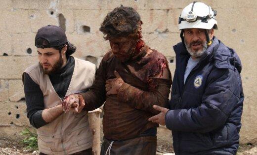 Sīrijā savā bāzē nošauti septiņi 'Balto ķiveru' brīvprātīgie