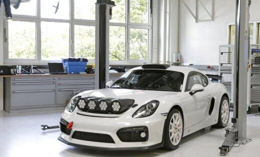 Foto: 'Porsche' izgatavo īpašu rallijam paredzētu 'Cayman GT4 Clubsport'