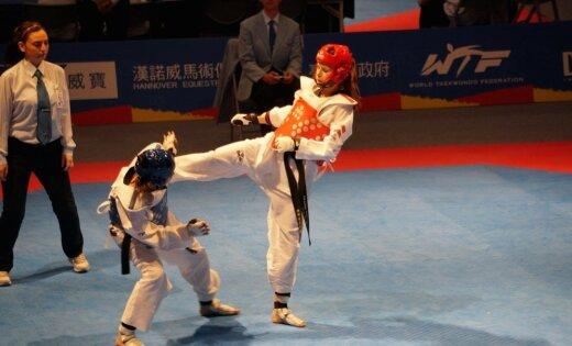 Латвийские спортсменки завоевали три золотых медали на турнире по тхэквондо в Риге