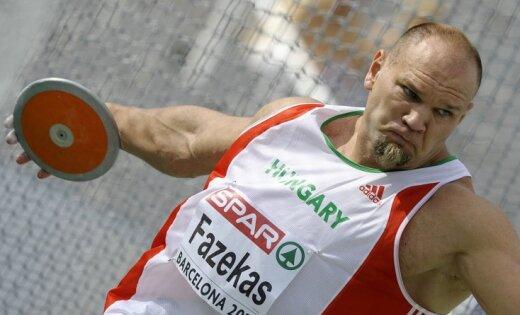 Ungāru diska metējs Fazekašs pirms Olimpiādes pieķerts dopinga lietošanā