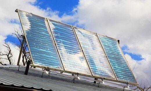 Mazsalacas vidusskolā uzstādīti saules kolektori