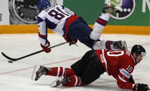 Fotoreportāža: pasaules hokeja čempionāta pirmā diena