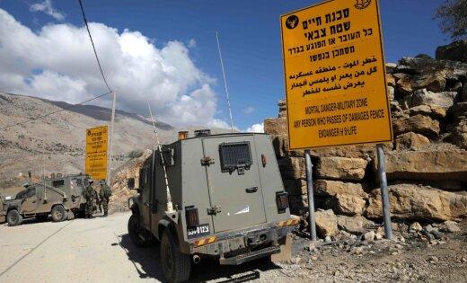 Golānas augstienēs Izraēla notriec Sīrijas dronu
