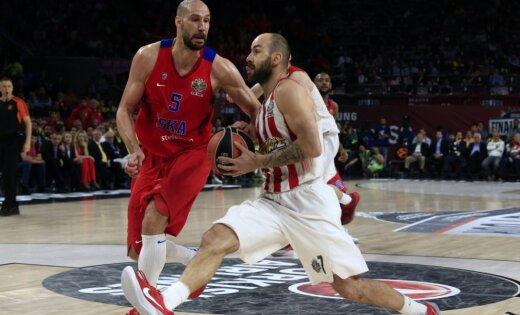 Maskavas CSKA zaudē 'Olympiacos' un noliek ULEB Eirolīgas čempionu pilnvaras