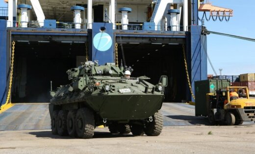 ВЛатвию прибыла боевая техникаВС Канады