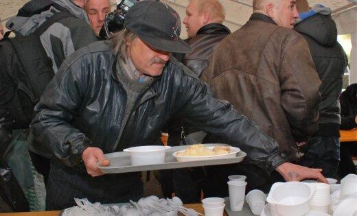 С наступлением холодов число посетителей дневного приюта в Риге увеличилось
