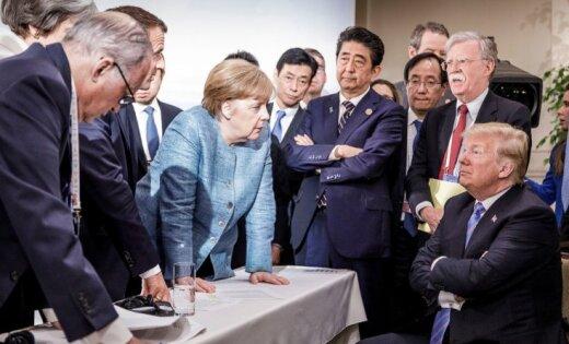 Западные СМИ: 15 странных поступков Трампа на встречах мировых лидеров