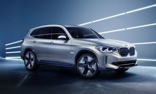BMW parādījis elektriskā apvidnieka 'iX3' prototipu