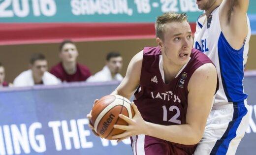 Latvijas U-20 basketbolisti ar Maķedonijas sagraušanu sāk ceļu uz atgriešanos EČ augstākajā divīzijā