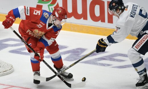 Сборная Российской Федерации похоккею выигрывает финнов вматче Евротура