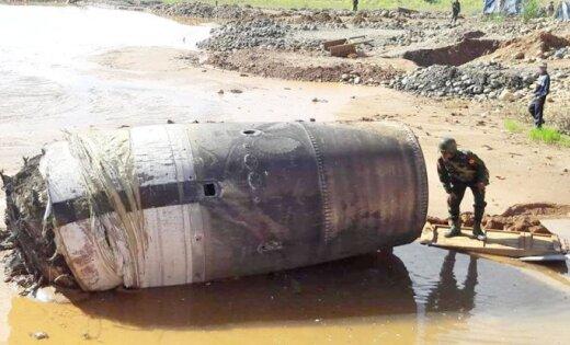 Нанефритовую шахту вМьянме упал обломок космического судна