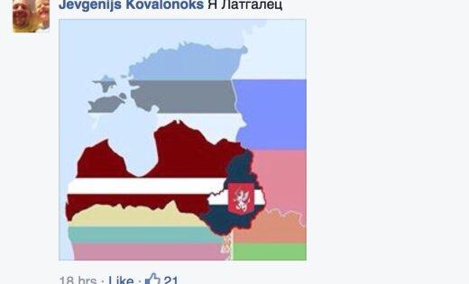 Prokrieviskie aktīvisti izveido 'Latgales Tautas Republikas' karogu