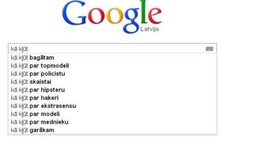 Google meklētājs: Par ko vēlas kļūt latvieši?