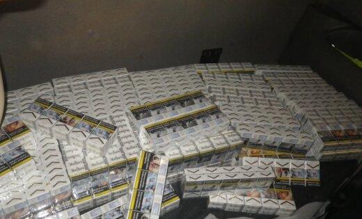 Foto: Ventspils ostā atsavina vairāk nekā 213 tūkstošus cigarešu