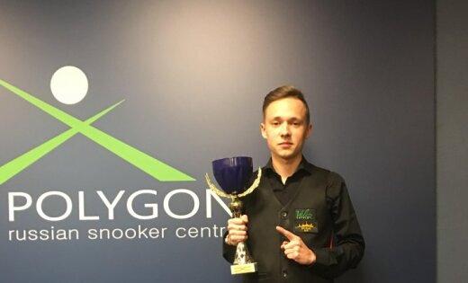 Лучший латвийский снукерист Юдин за месяц выиграл три турнира подряд