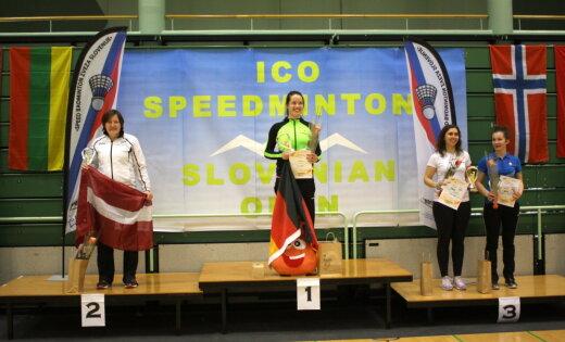 Santa Paegle izcīna sudraba medaļu krosmintona 1000 punktu reitinga turnīrā Slovēnijā