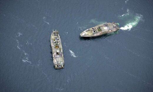 Pie Latvijas ūdeņiem mana Krievijas zemūdeņu atbalsta kuģi