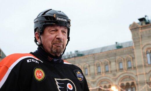 Veterānu spēles laikā miris bijušais hokejists un televīzijas komentētājs Gimajevs