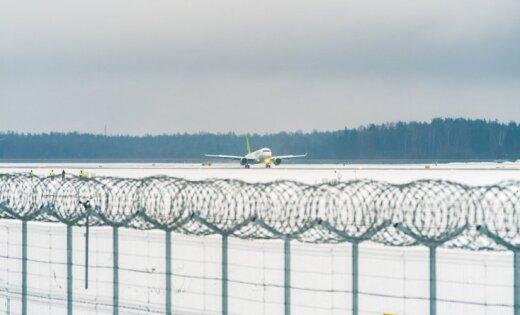 Рижский аэропорт работает сперебоями из-за снегопада