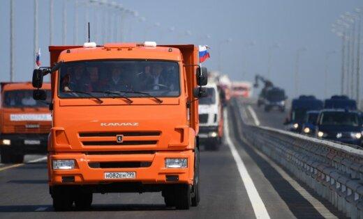 ASV pauž nosodījumu par tilta atklāšanu starp Krieviju un okupēto Krimu