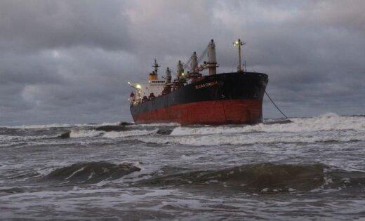 ВКлайпеде из-за шторма намель сел сухогруз