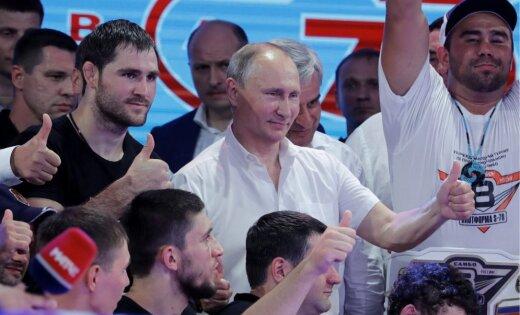 ФОТО, ВИДЕО: Путин гостит на фестивале боевого самбо в Сочи