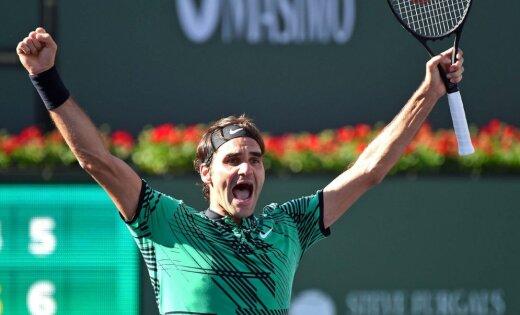 Federers Indianvelsā izcīna savu 90. ATP titulu karjerā