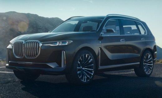 Pirmie attēli ar BMW milzīgo apvidnieku 'X7'