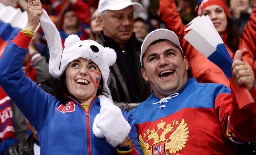 Russian hockey fans