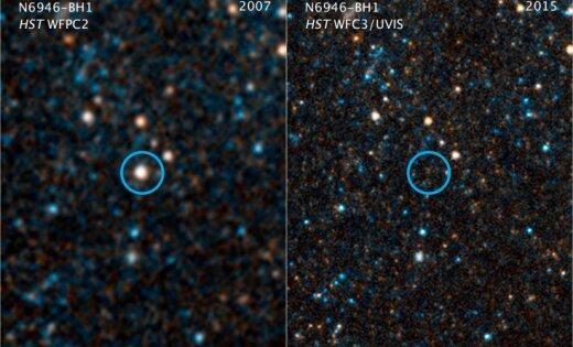 Нанебосводе пропала одна звезда: прогнозируют, что она будет черной дырой