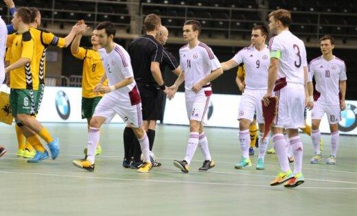 Сборная Латвии по футзалу осталась второй на Кубке Балтии