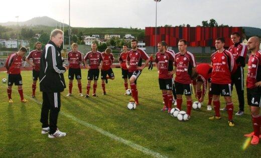 Fotoreportāža: Latvijas futbola izlase Austrijā