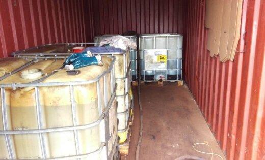 Рига: на ул. Крустпилс работала нелегальная автозаправка, изъято 2150 литров топлива