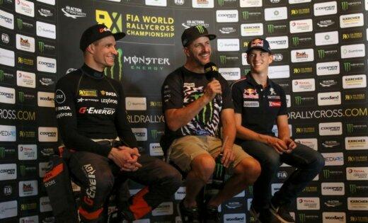 'World RX' sezonas pēdējais starts: Baumanis pēc pirmās dienas otrais un zaudē tikai Blokam