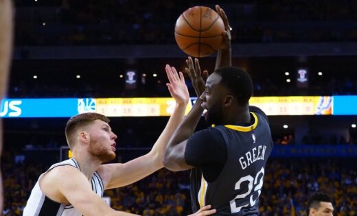 Bertāna 'Spurs' piedzīvo zaudējumu arī otrajā izslēgšanas spēlē pret NBA čempioniem 'Warriors'
