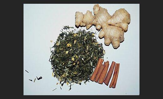 Ingvers, zaļā tēja, kanēlis. Foto: Viktors Kozers