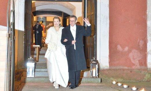 ФОТО: Ильвес женился на Иеве Купце; латышка стала первой леди Эстонии