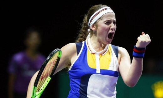 Ostapenko pārvar Dohas WTA 'Premier' turnīra dubultspēļu sacensību pirmo kārtu