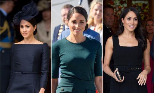 Trīs tērpi vienā dienā: Saseksas hercogiene Megana žilbina ar eleganci
