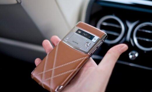 ФОТО: в Латвии проданы уже два смартфона Vertu for Bentley за 12 тысяч евро