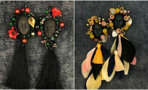 Sajūsmu izpelnās latviešu dizaineres darināti auskari