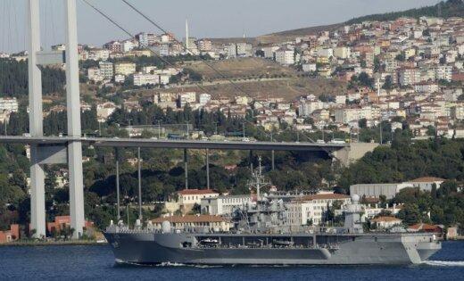 Все перемещения американского корабля Mount Whitney отслеживаются Черноморским флотом