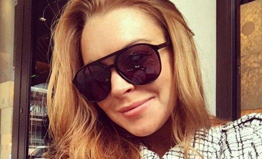 Линдси Лохан прилетела в столицу России иприняла участие всъемках «Пусть говорят»