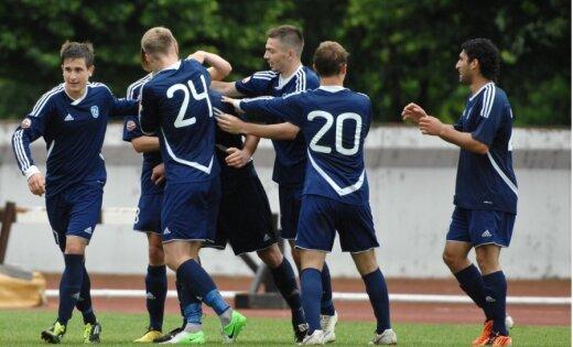 Rīgas 'Daugavas' futbolisti cīnās neizšķirti ar 'Metta'/LU komandu