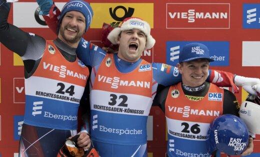 Саночник Павличенко стал двукратным чемпионом Европы