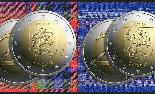 Банк Латвии выпустит новые монеты достоинством два евро