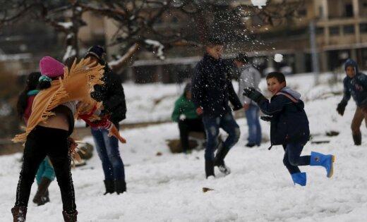 Foto: Ziema pārņem Libānu