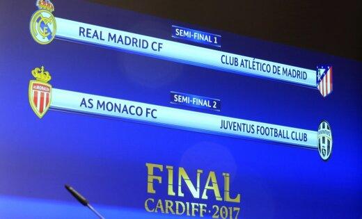 Čempionu līgas pusfinālā gaidāms Madrides derbijs