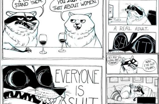 ФОТО. 15 комиксов про грубых енота и хаски, которые точно описывают твою жизнь